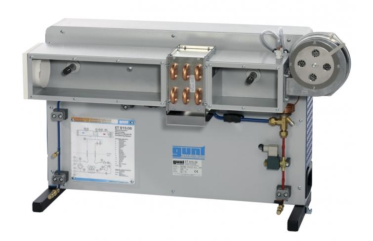 Modelo instalación de aire acondicionado sencilla