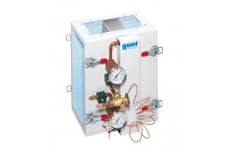 Transferencia de calor en el evaporador para refrigerante